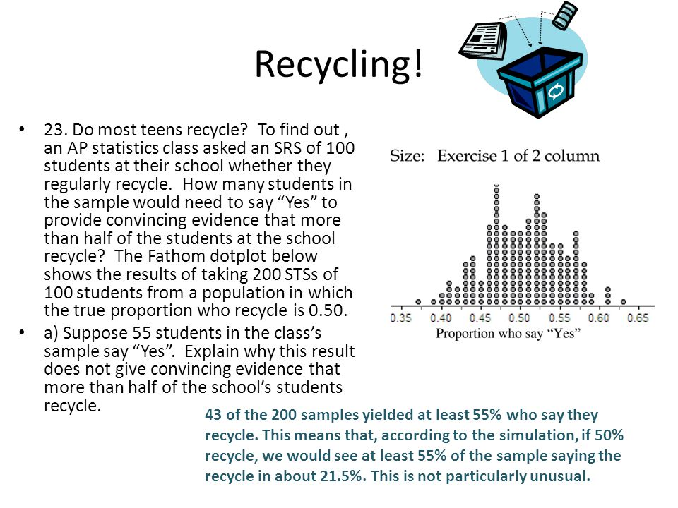 Recycling.23. Do most teens recycle.