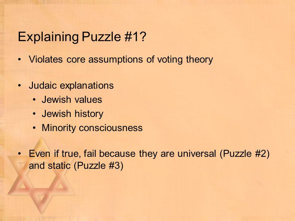 Explaining Puzzle #1.