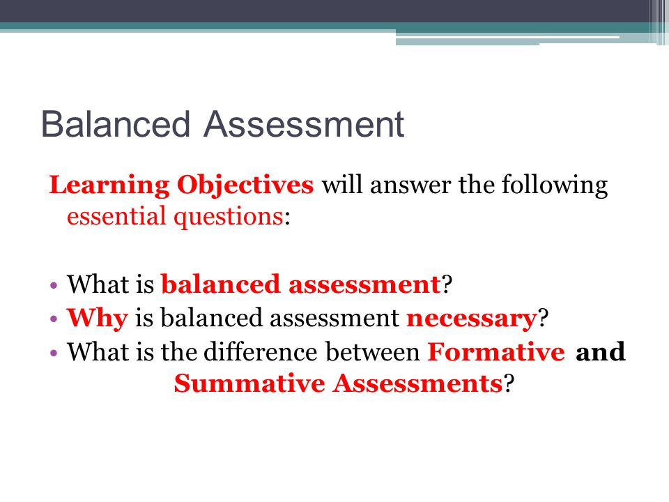 The Formative Assessment Process What It Is…What It Isn't… A planned process Unplanned Based on assessment evidenceIndividual strategies Using evidence to make instructional adjustments and/or verifying learning Moving on regardless of student evidence Reflective feedback for studentsGrading