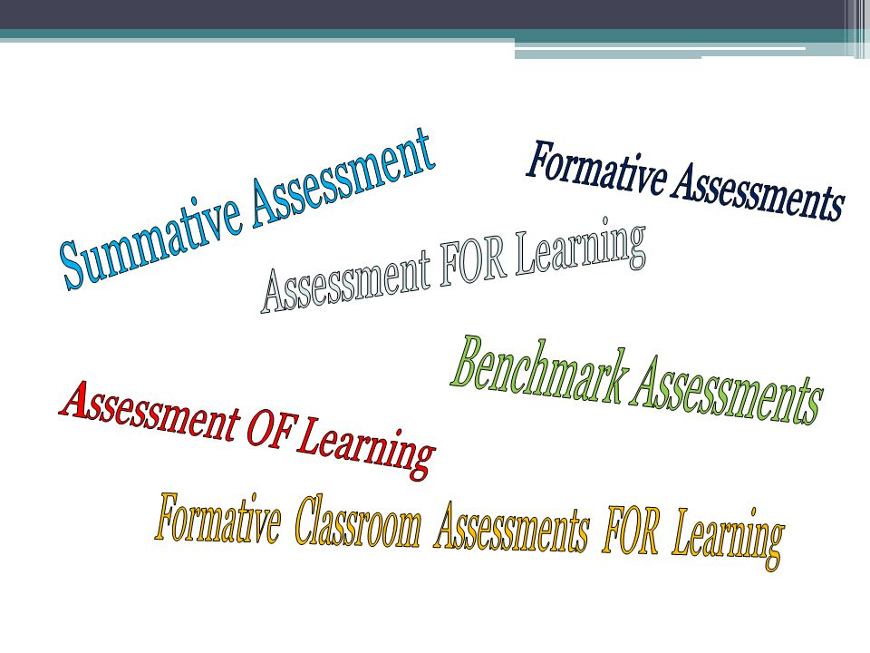 Formative and summative assessment are interconnected.