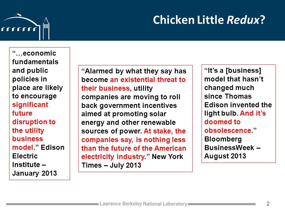 Chicken Little Redux.