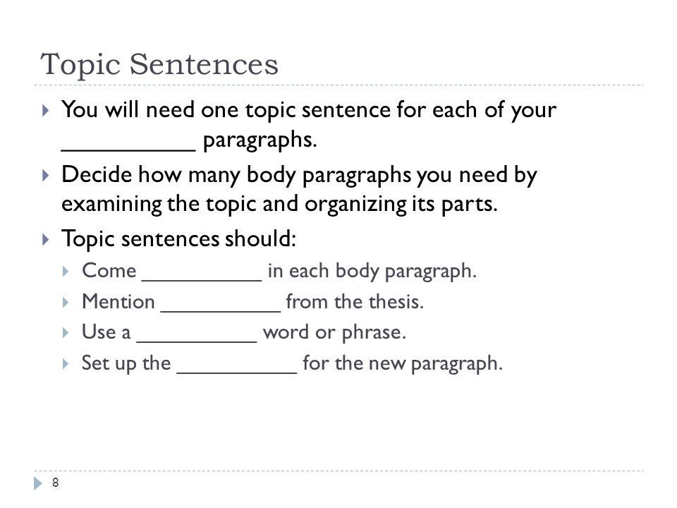 CDC 2 Claim  Make a claim here that you will prove in this paragraph, otherwise known as a topic sentence.