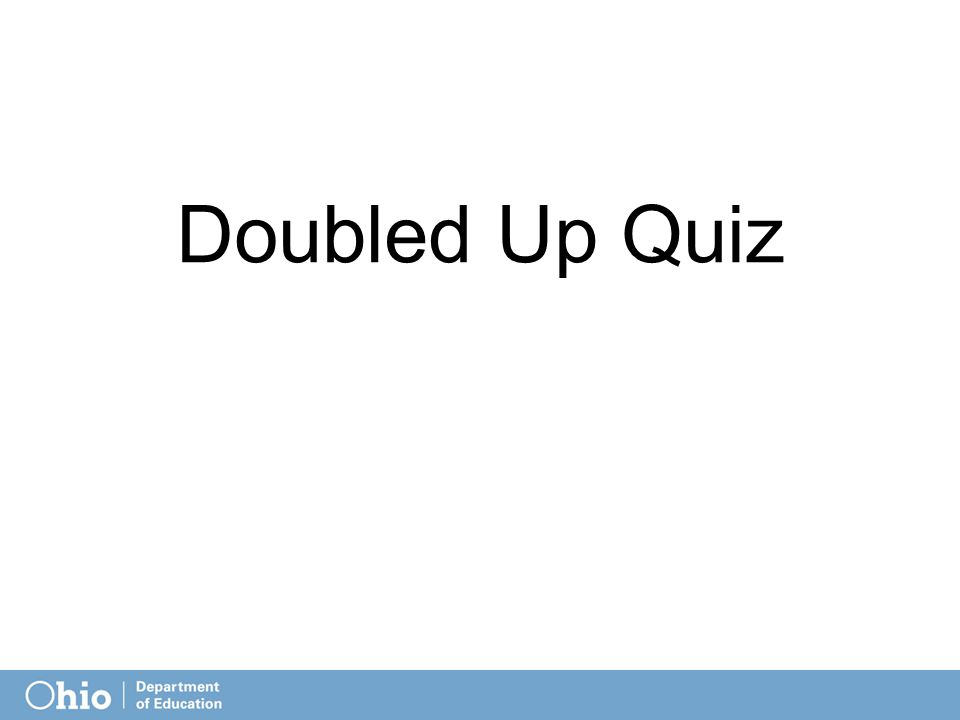 Doubled Up Quiz