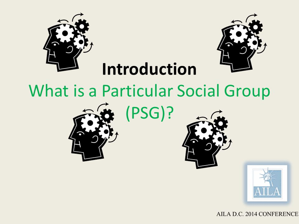 Introduction What is a Particular Social Group (PSG)