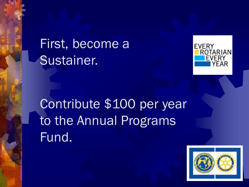 Clubs– what can you do to help encourage giving.