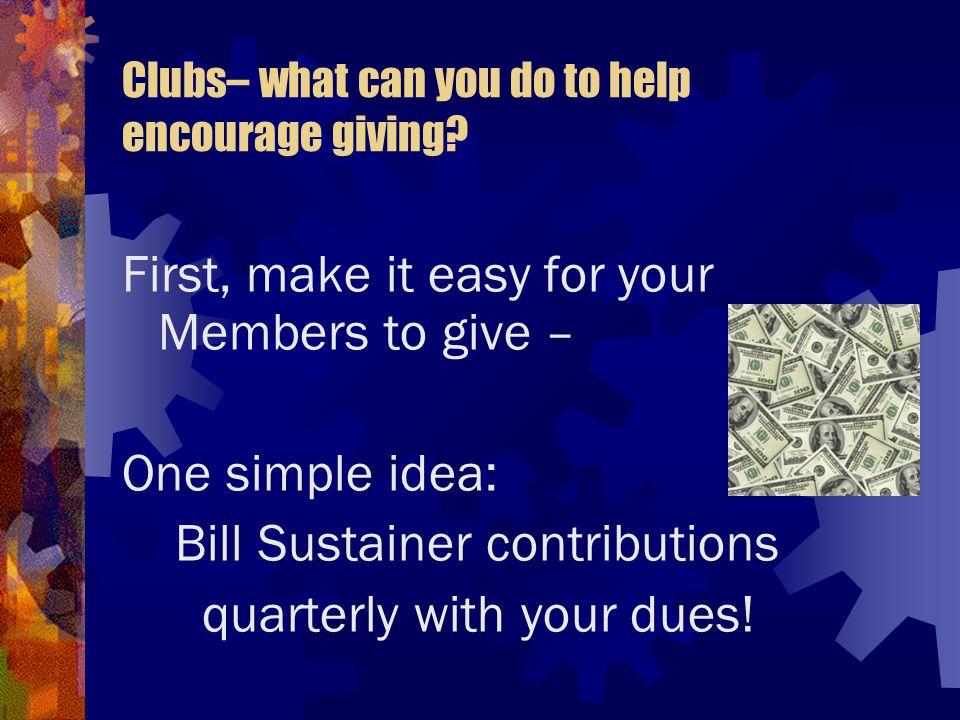 Next, honor those who do give.