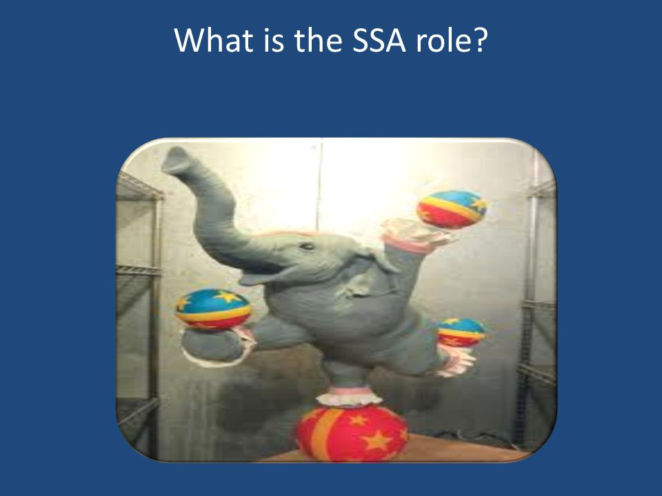 What is the SSA role?