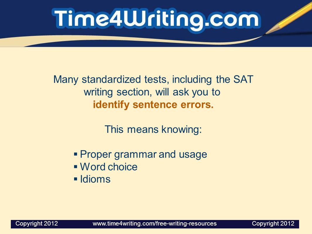 The SAT Writing Section?