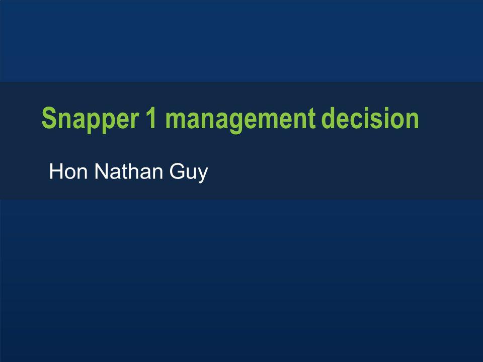 www.mpi.govt.nz 1 www.mpi.govt.nz Snapper 1 management decision Hon Nathan Guy
