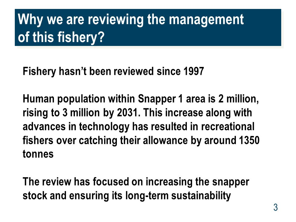 www.mpi.govt.nz 3 Why we are reviewing the management of this fishery.