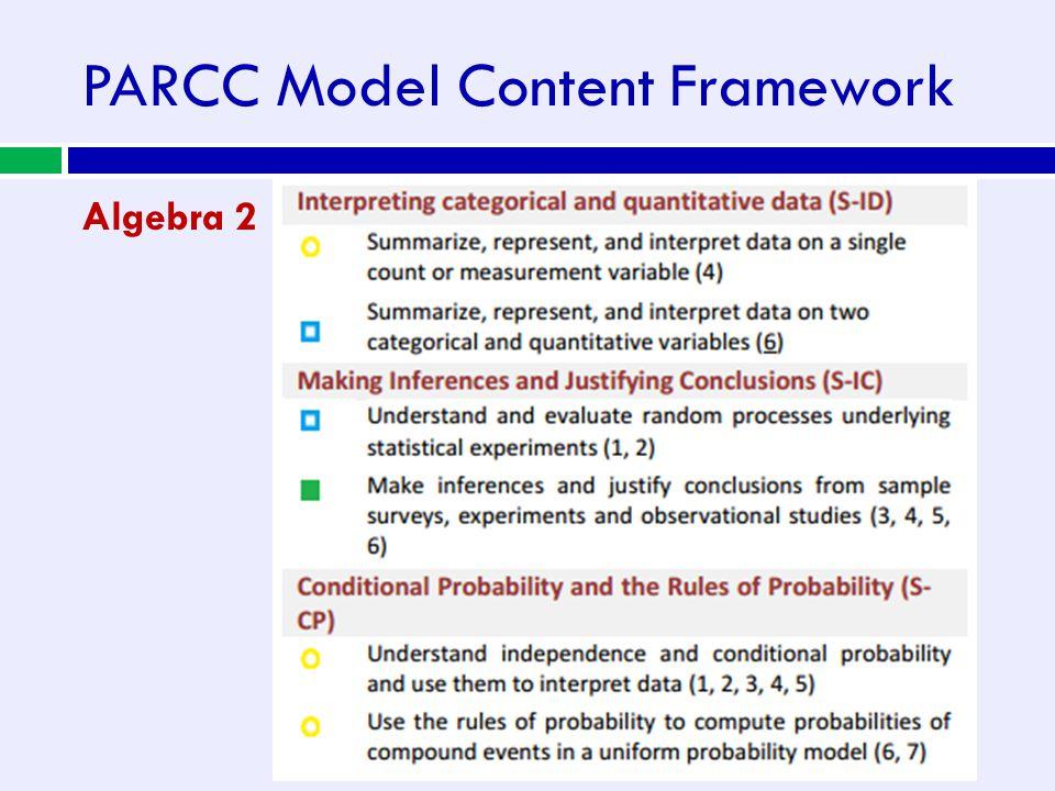 PARCC Model Content Framework Algebra 2