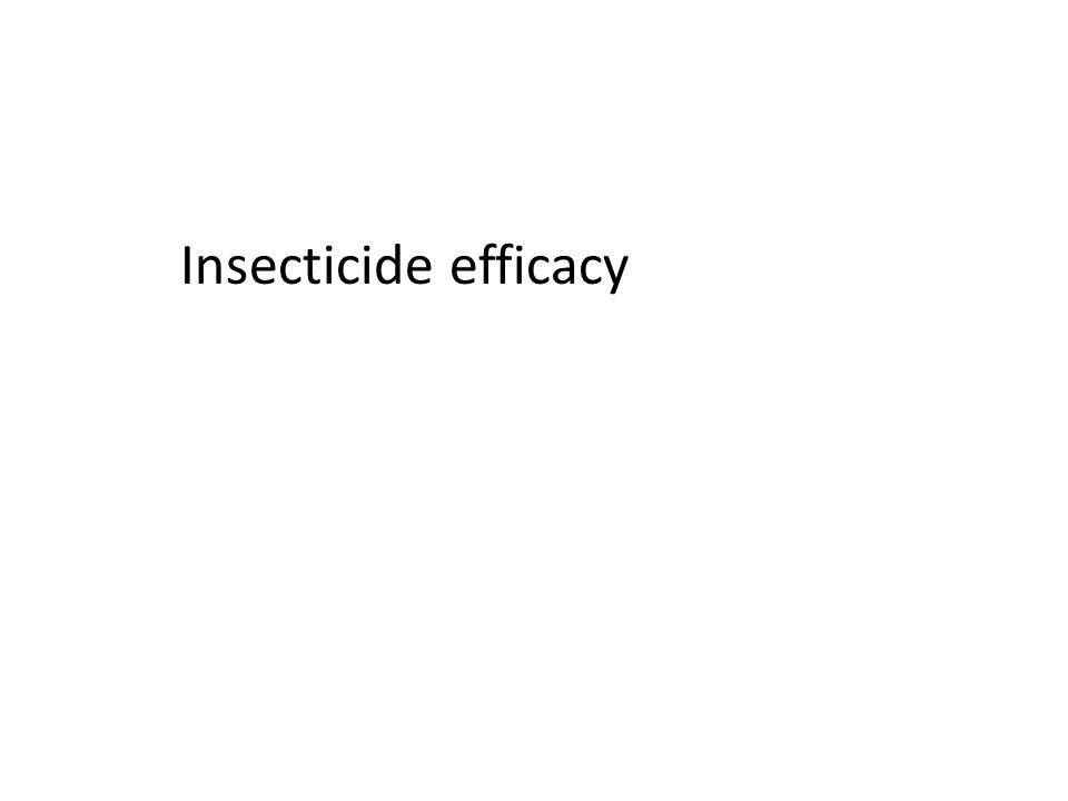 Insecticide efficacy
