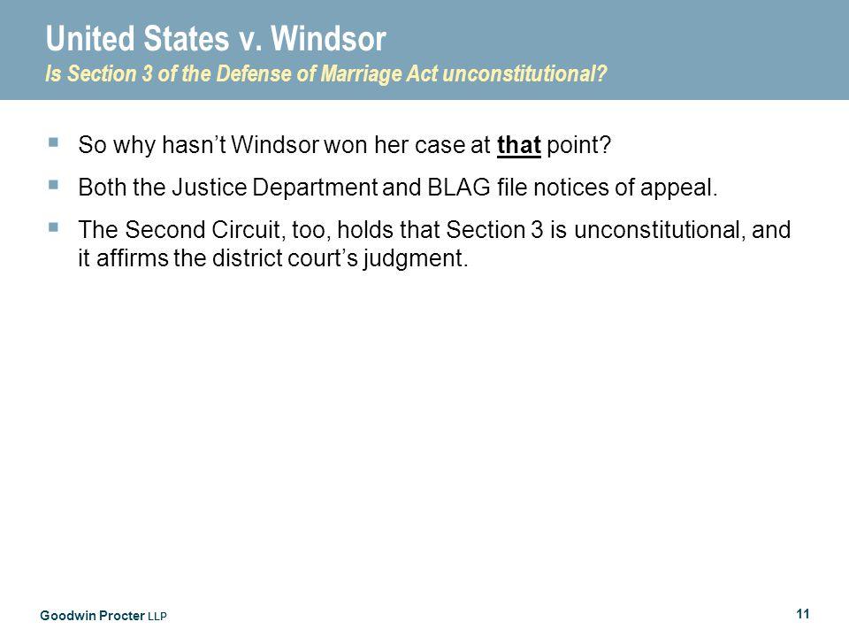 Goodwin Procter LLP 11 United States v.