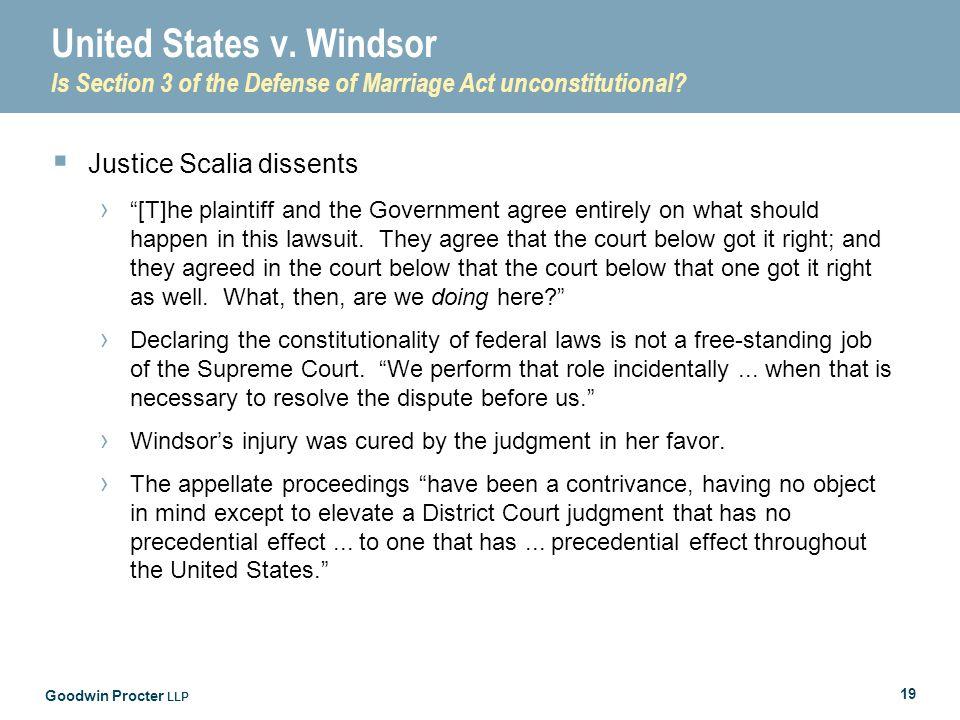 Goodwin Procter LLP 19 United States v.