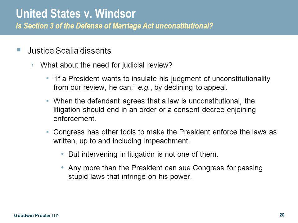 Goodwin Procter LLP 20 United States v.