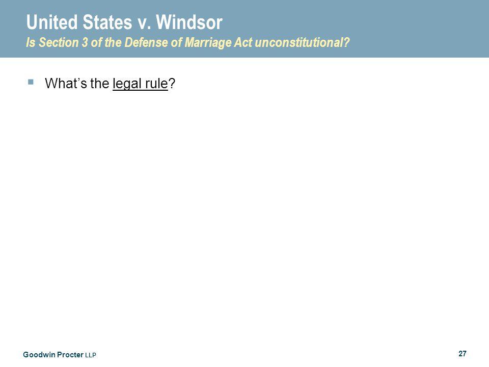 Goodwin Procter LLP 27 United States v.