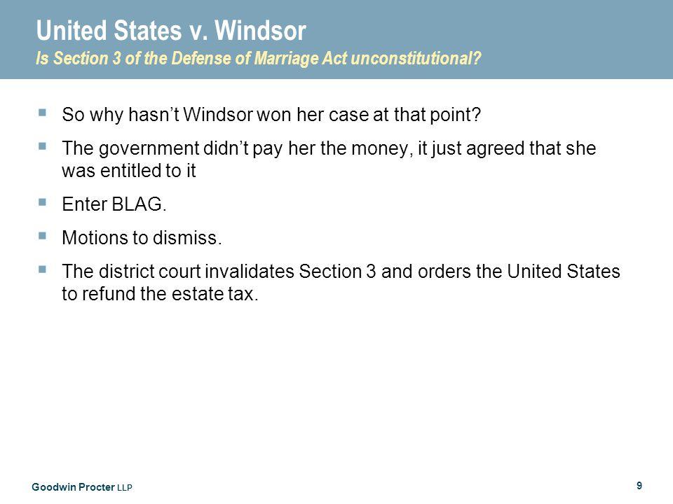 Goodwin Procter LLP 9 United States v.