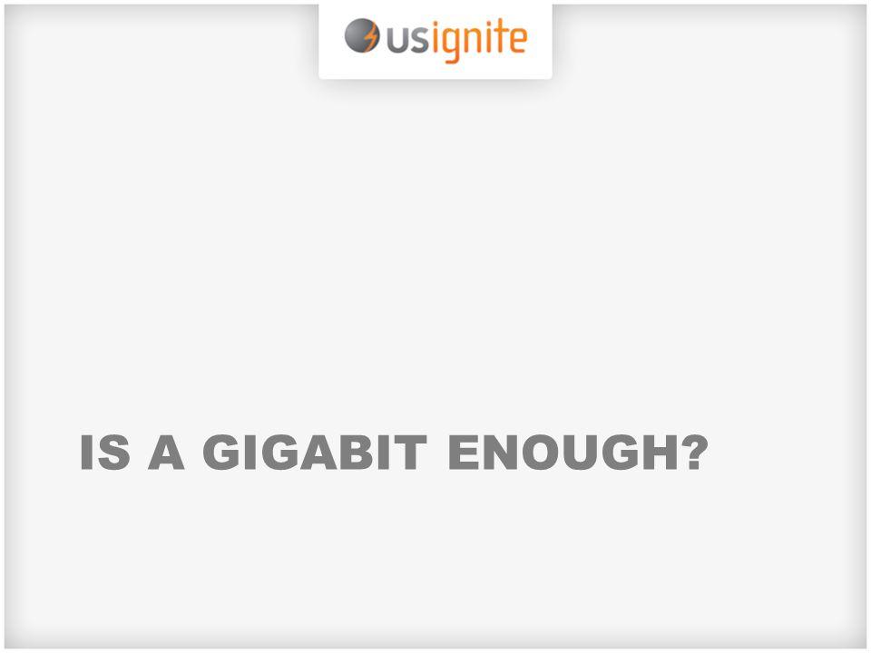 IS A GIGABIT ENOUGH?