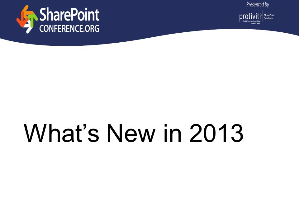 What's New in 2013