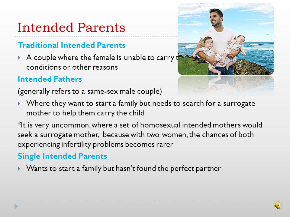 Introduction Surrogacy is where a woman carries and delivers a child for another person Did you know.