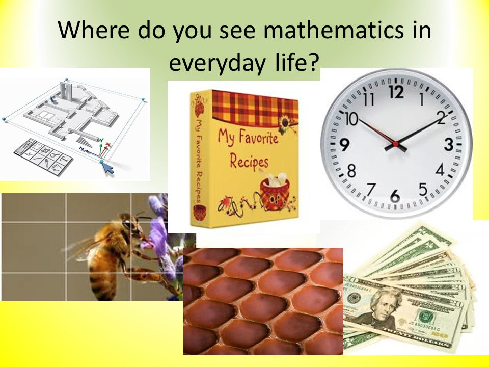 Where do you see mathematics in everyday life?