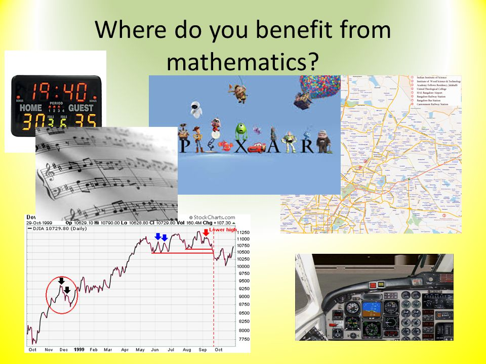 Where do you benefit from mathematics?