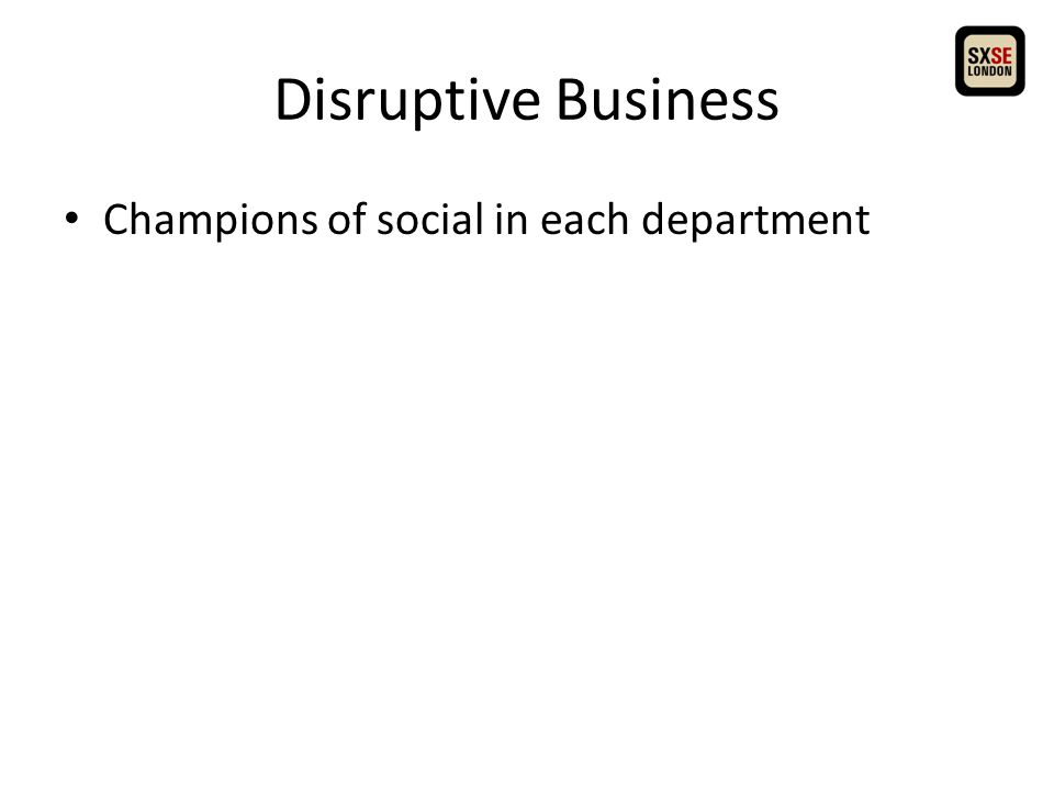 Champions of social in each department