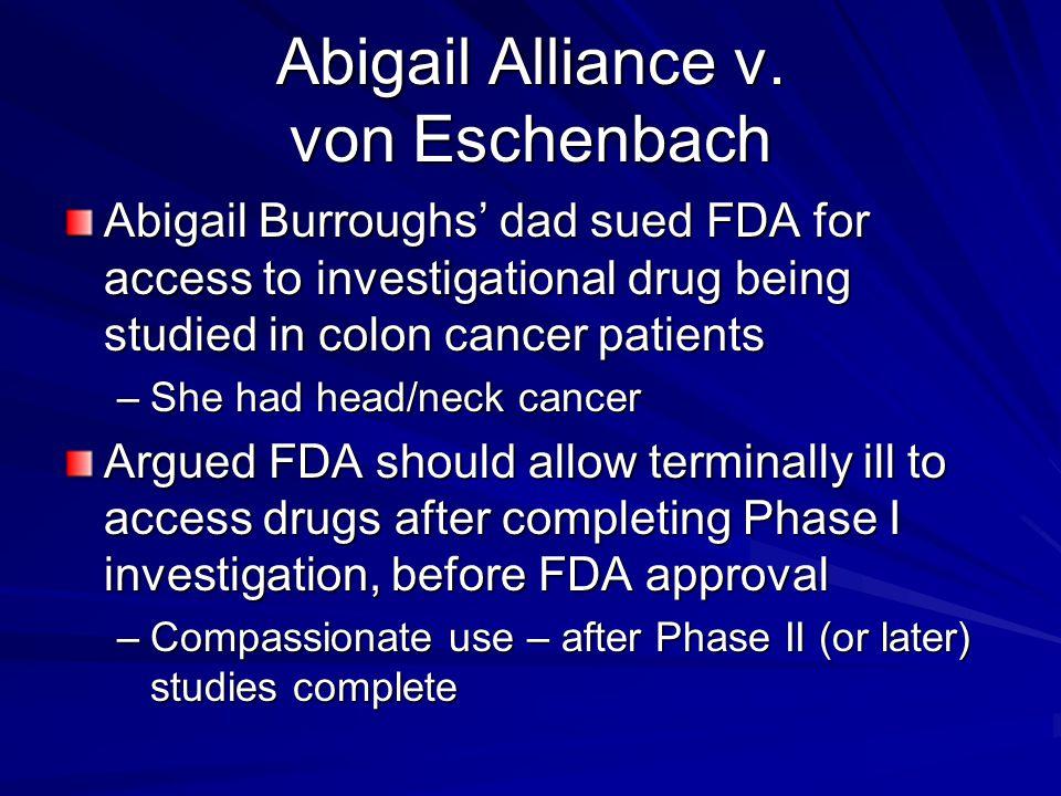 Abigail Alliance v.