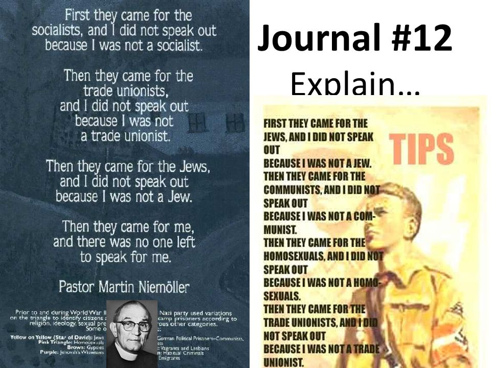 Journal #12 Explain…
