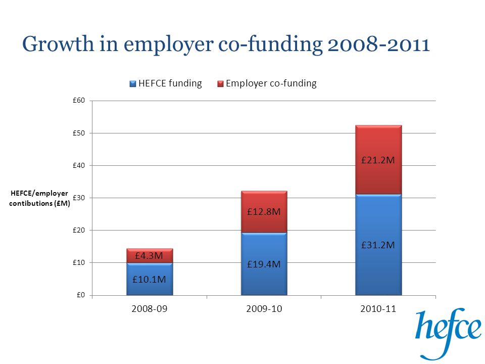 Nature of employer co-funding 2010-11
