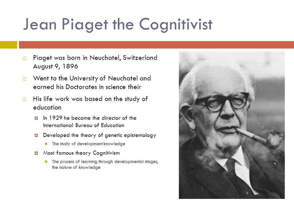 Piaget's Famous Theory Cognitivism 1.Sensorimotor 2.