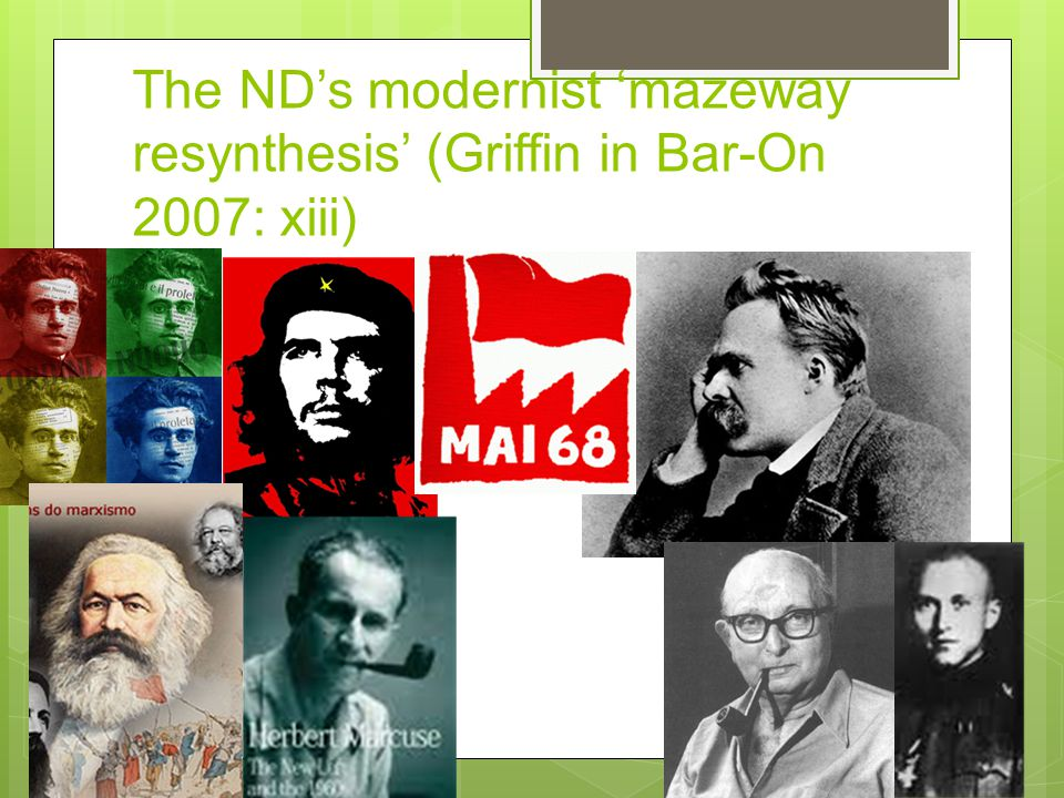 The ND's modernist 'mazeway resynthesis' (Griffin in Bar-On 2007: xiii)