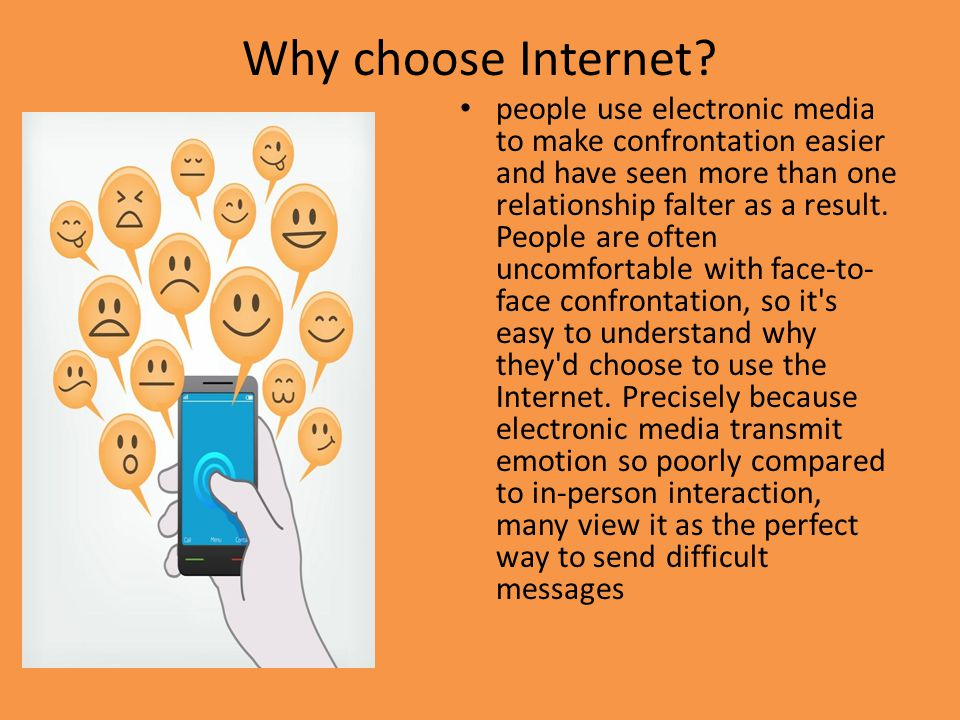 Why choose Internet.