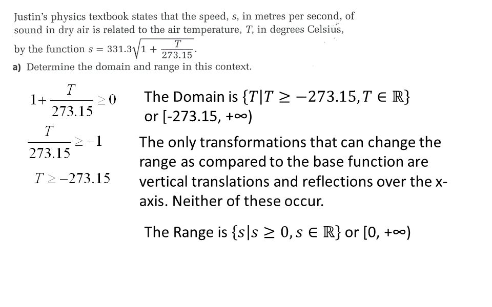 The only transformations that can change the range as compared to the base function are vertical translations and reflections over the x- axis. Neithe