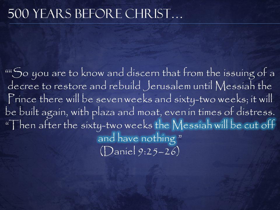 500 Years Before Christ…