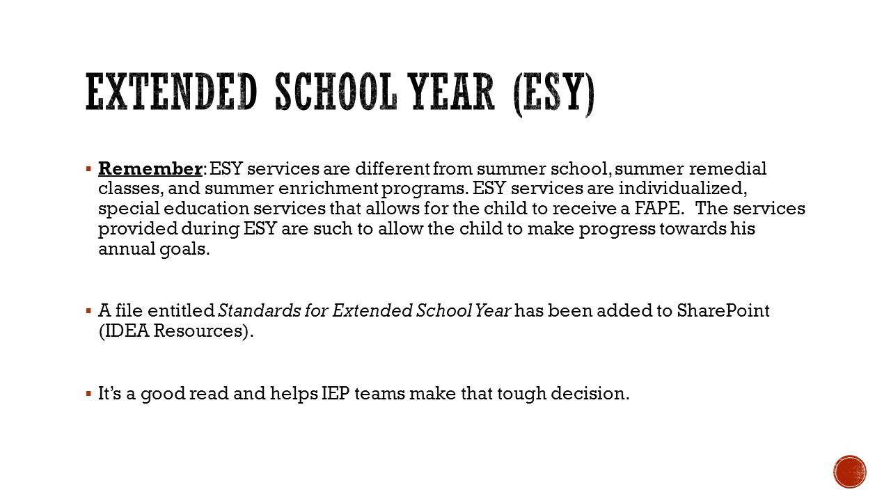  See file on SharePoint: SCPCSD Seniors who are exiting  Reminders:  Every child who graduates with a high school diploma this year or exits out because of age, will need to have a Summary of Performance provided to him/her which also includes the progress reports from the FINAL IEP.