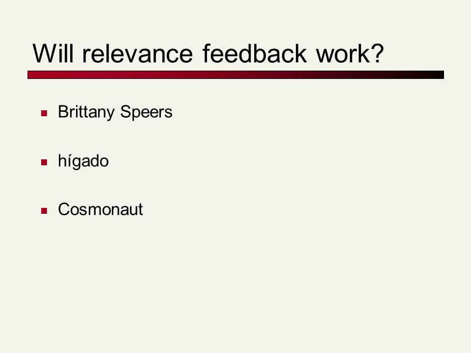 Will relevance feedback work Brittany Speers hígado Cosmonaut