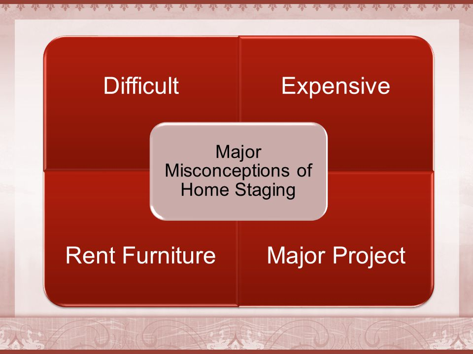 DifficultExpensive Rent FurnitureMajor Project Major Misconceptions of Home Staging