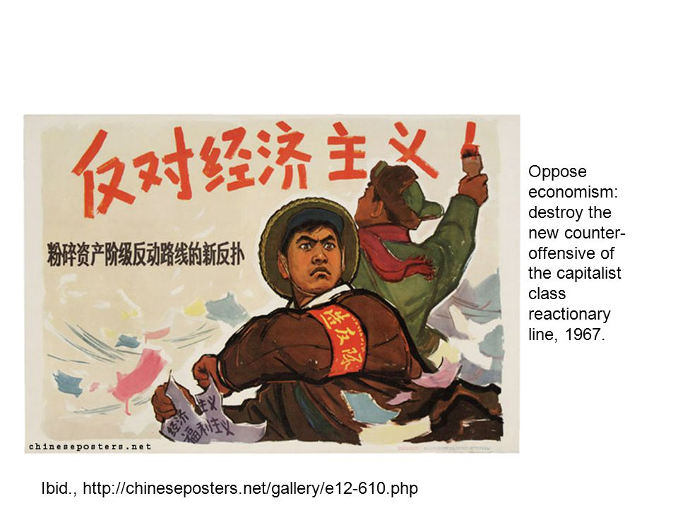 Oppose economism: destroy the new counter- offensive of the capitalist class reactionary line, 1967. Ibid., http://chineseposters.net/gallery/e12-610.