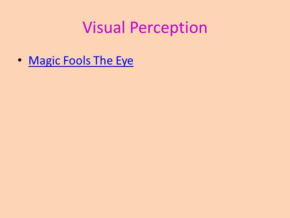 Visual Perception Magic Fools The Eye