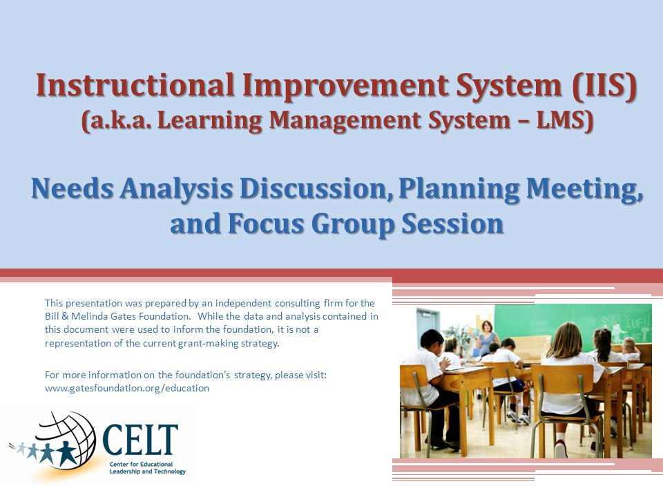 Instructional Improvement System (IIS) (a.k.a.