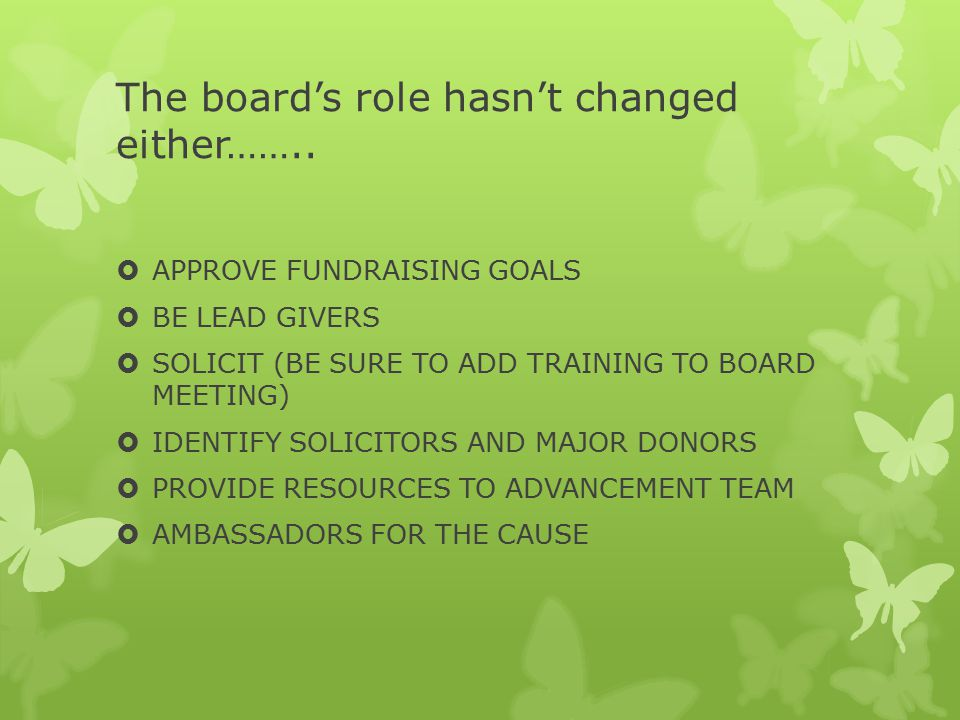 The board's role hasn't changed either……..