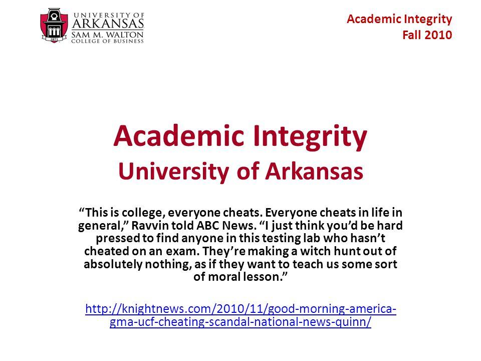Academic Integrity Fall 2010