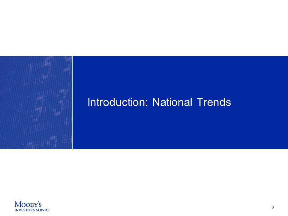 3 Introduction: National Trends