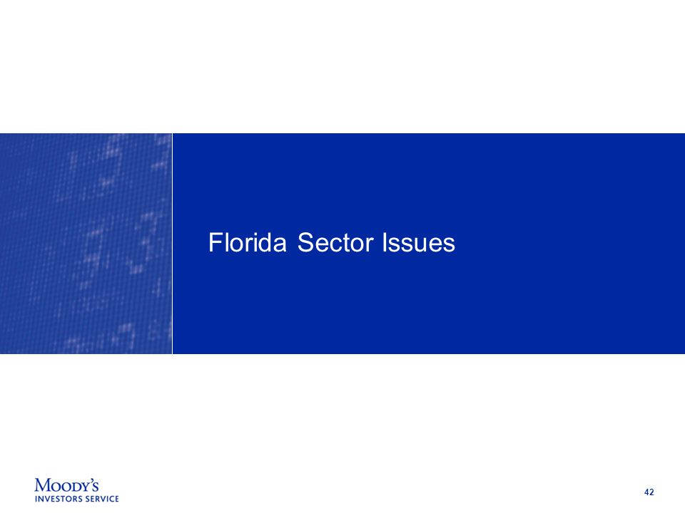 42 Florida Sector Issues