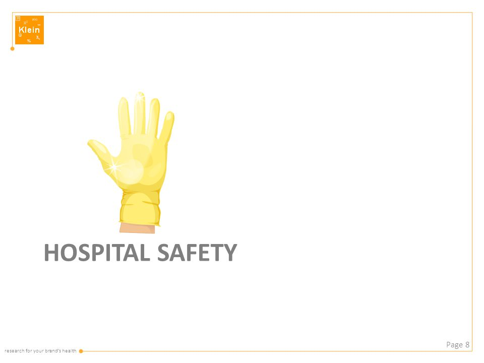 research for your brand's health HOSPITAL SAFETY Page 8