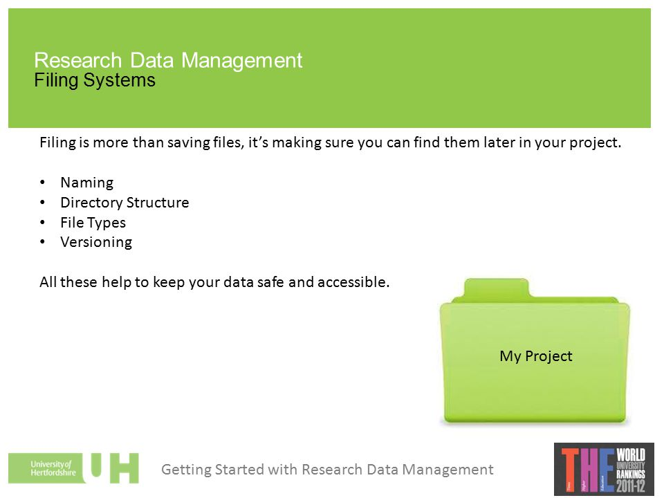 DOCUMENTATION Research Data Management