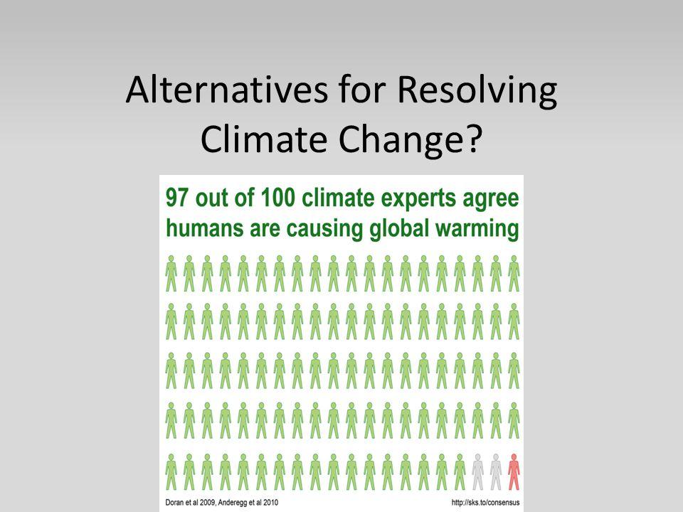 Alternatives for Resolving Climate Change?