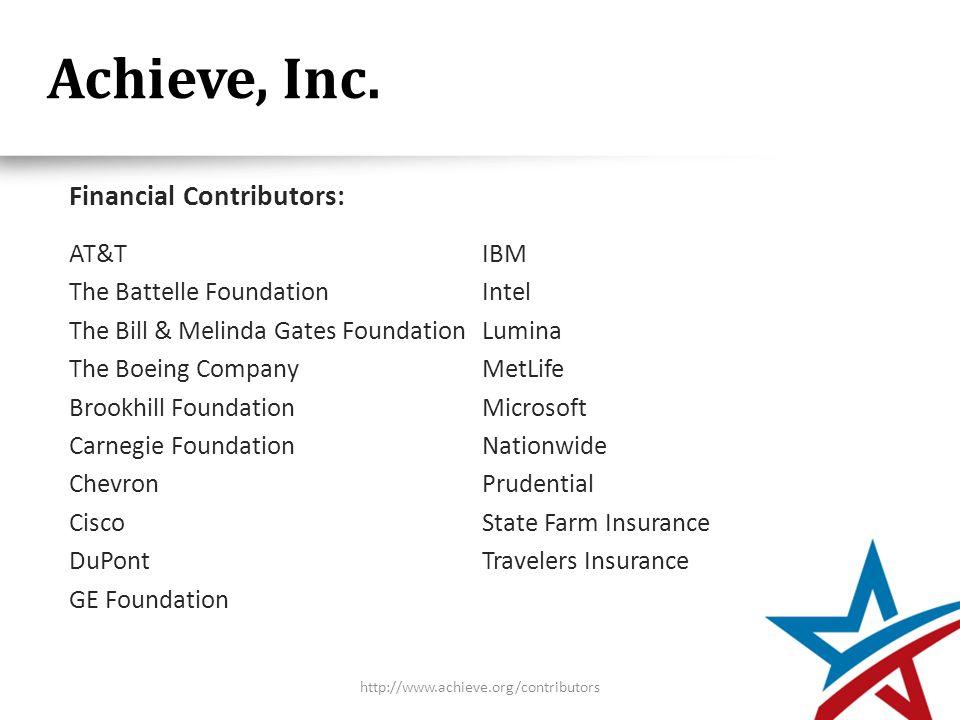 Achieve, Inc.
