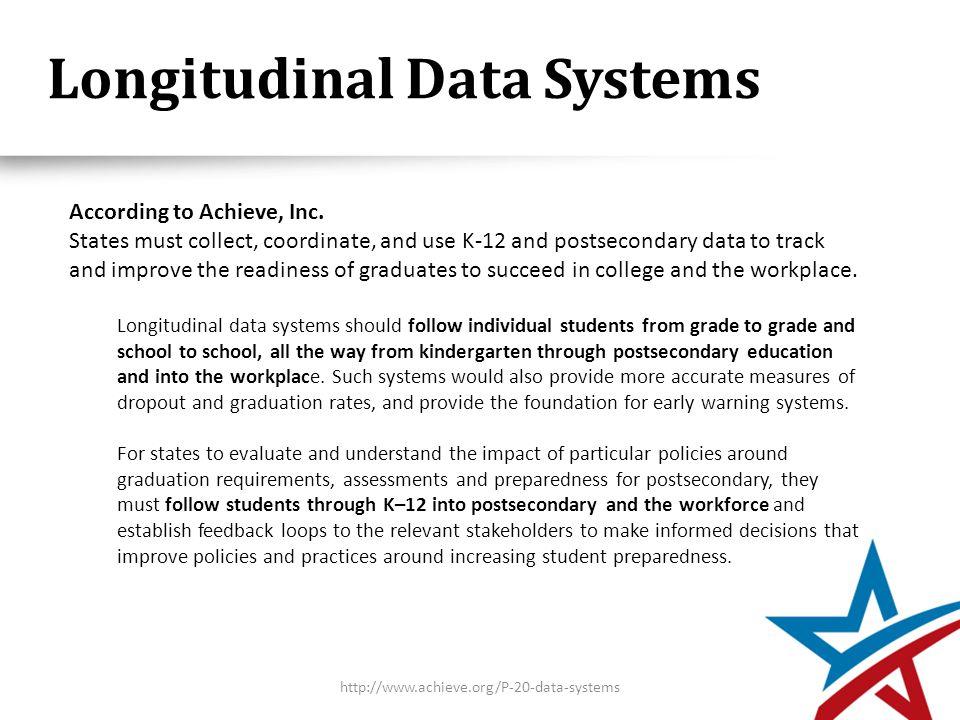 Longitudinal Data Systems According to Achieve, Inc.